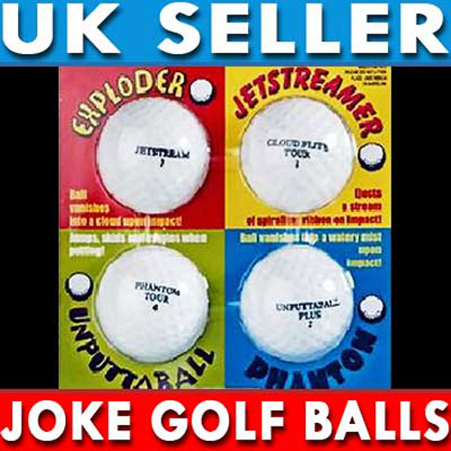 Awesome Four Some Joke Golf Balls Pack of 4