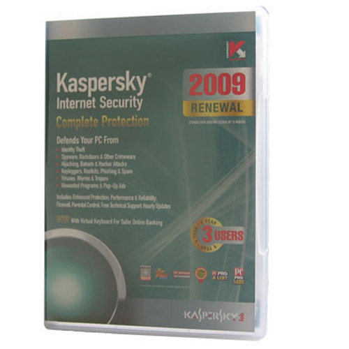 Kaspersky Internet Security 2009 3 User 1 Year Retail Box