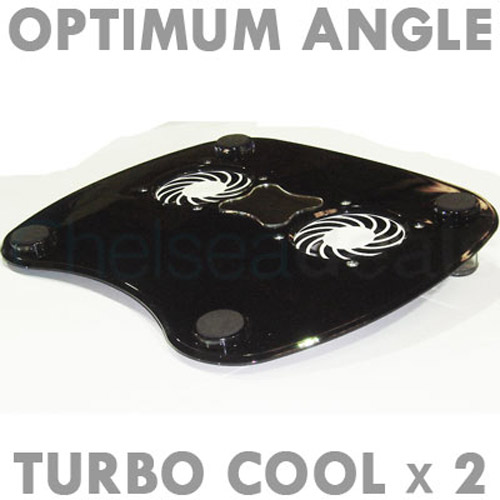 Laptop Stand with 2 Cooling Fans - Black