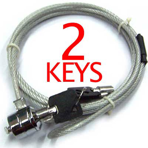 New Notebook Laptop Security Steel Cable Lock Chain - Key