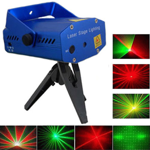 Mini Holographic Star Laser Stage Light - Red / Green Laser