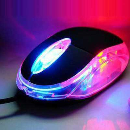 Red & Blue Light-up USB Optical Mouse - NEW