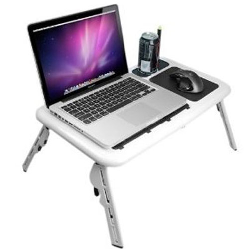 Foldable Laptop Stand Table with 2 Fans