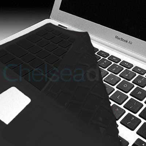 KeyBoard Silicone Cover Skin Case For MacBook Air - Black