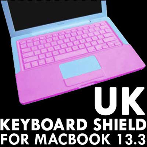 "KeyBoard Silicone Cover Skin case For 13.3"" MacBook - Pink"