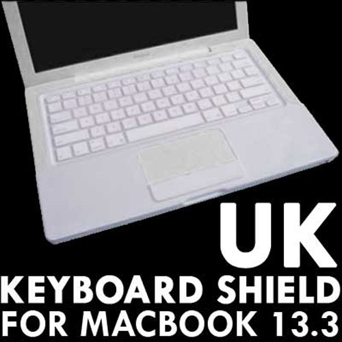 "KeyBoard Silicone Cover Skin case For 13.3"" MacBook - White"