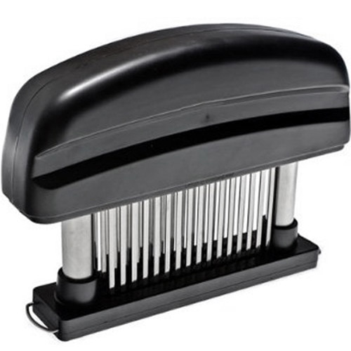 Stainless Steel Hand Held Meat Tenderizer - 48 Piercing Spikes