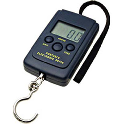 Portable Compact Digital Electronic Luggage Scale - Black
