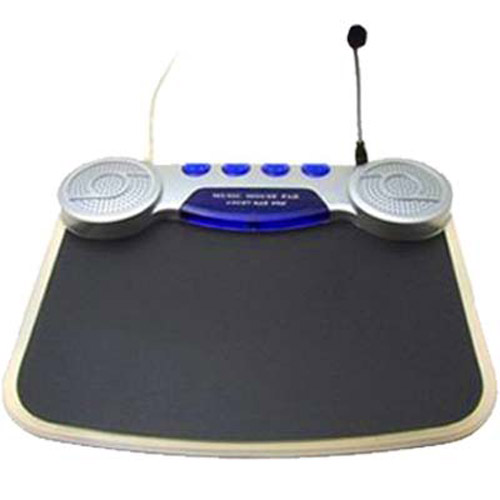 LED Mouse Mat with USB Hub, Microphone and Speakers