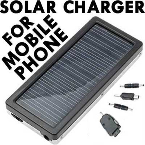 Solar Powered Charger for Mobile Phones (nokia, motorola)