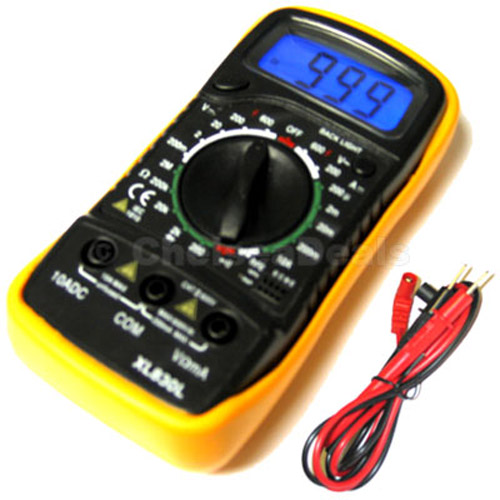 Digital Ohm Meter : New digital lcd multimeter voltmeter ohm meter ammeter ebay
