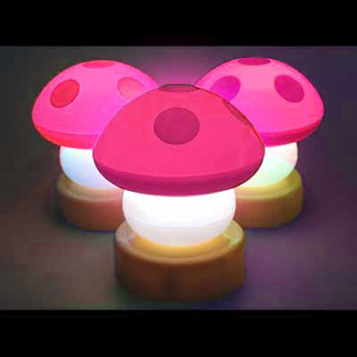 Pink Gorgeous Mushroom Push/Touch Night Light/Lamp
