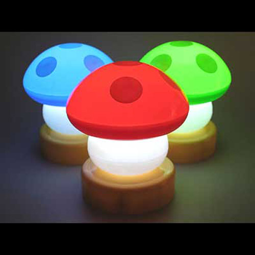 Gorgeous Colourful Mushroom Push/Touch Night Light/Lamp