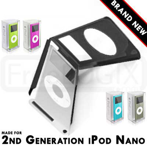 Aluminium Metal Case for Apple iPod Nano 2nd Generation - Black