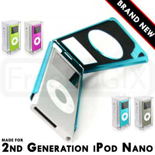 Aluminium Metal Case for Apple iPod Nano 2nd Generation - Blue