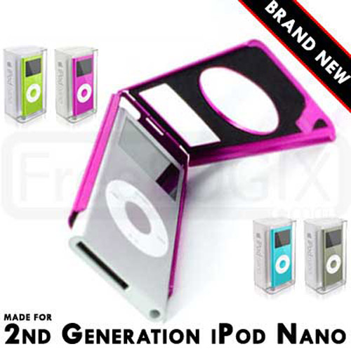 Aluminium Metal Case for Apple iPod Nano 2nd Generation - Pink