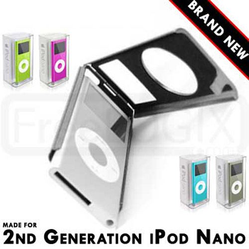 Aluminium Metal Case for Apple iPod Nano 2nd Generation - Silver