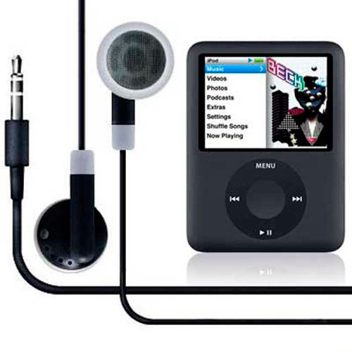 New Black Earphones for iPod Nano 3rd Generation