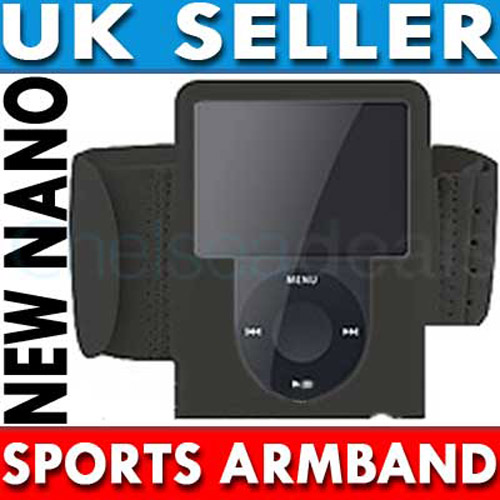 Sports Gym Armband for iPod Nano 3G - Black
