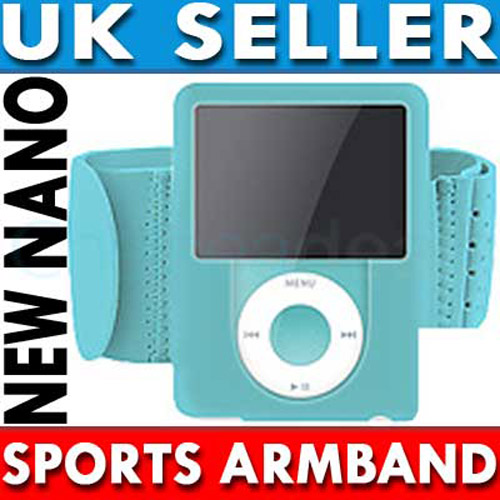 Sports Gym Armband for iPod Nano 3G - Blue