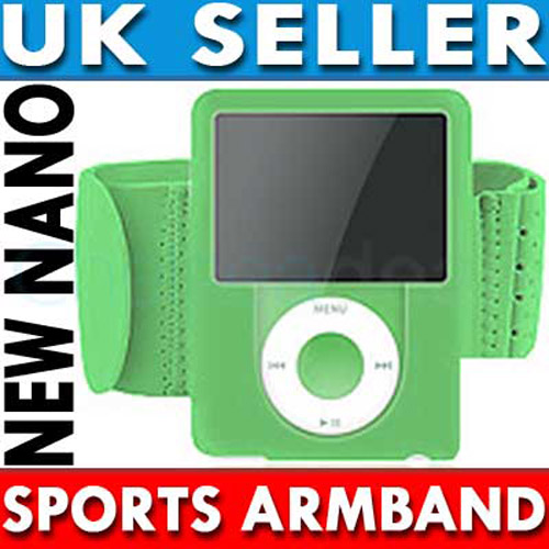 Sports Gym Armband for iPod Nano 3G - Green