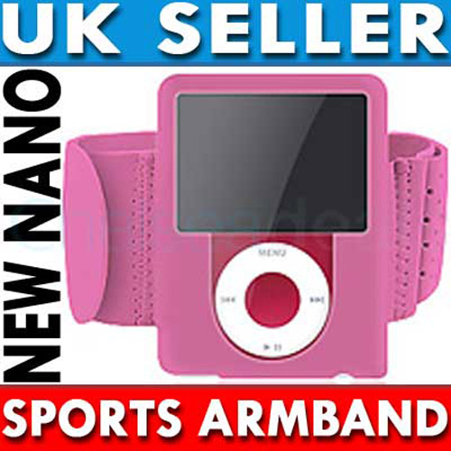 Sports Gym Armband for iPod Nano 3G - Pink