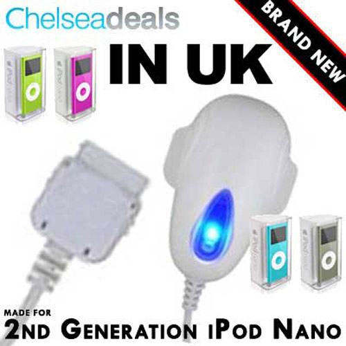 iPod UK Charger - White