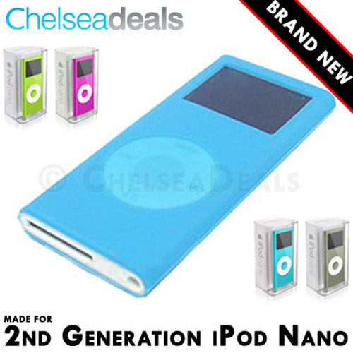 iPod NANO 2G 2nd GENERATION Silicone Tube Skin Case - Blue
