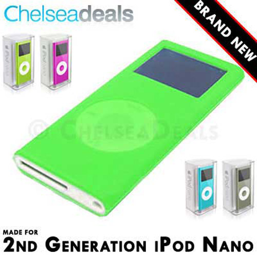 iPod NANO 2G 2nd GENERATION Silicone Tube Skin Case - Green