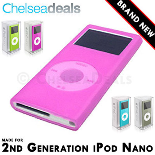 iPod NANO 2G 2nd GENERATION Silicone Tube Skin Case - Pink