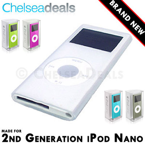 iPod NANO 2G 2nd GENERATION Silicone Tube Skin Case - White