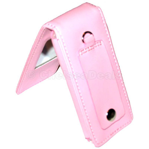 Luxury Pink Leather Case for iPod Nano (with armband)