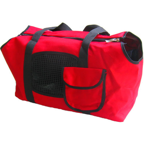 Dog Cat Pet Canvas Carrier Travel Transport Bag Carrier - Red