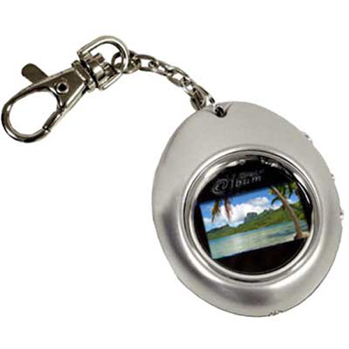 "1.1"" LCD Photo Keychain/Keyring Silver (Full Colour)"