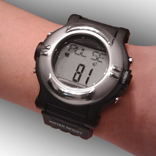 Heart Rate Monitor Watch - Black