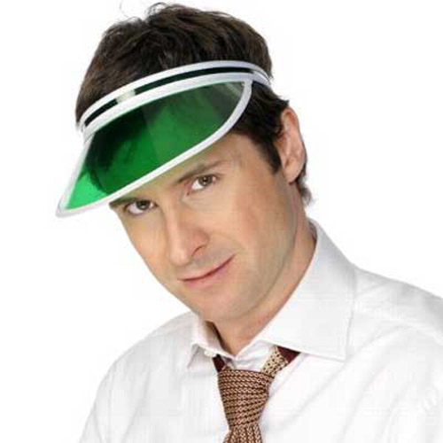 Green Poker Casino Sun Visor Hat Cap