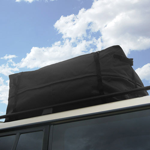 Car Roof Cargo Bag For Traveling - Waterproof (Black)
