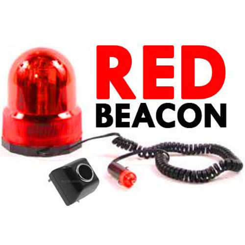 Red Beacon Revolving Light (Car and Mains Plug)