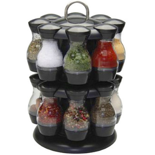 16 Piece Revolving Spice Jar Rack