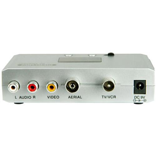 RF Digital Modulator Converter - SCART Phono To Aerial TV Coax