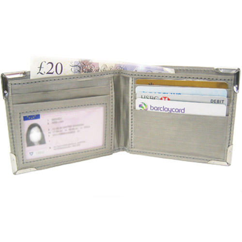 Stainless Steel Silk Feel RFID Blocking Protection Wallet