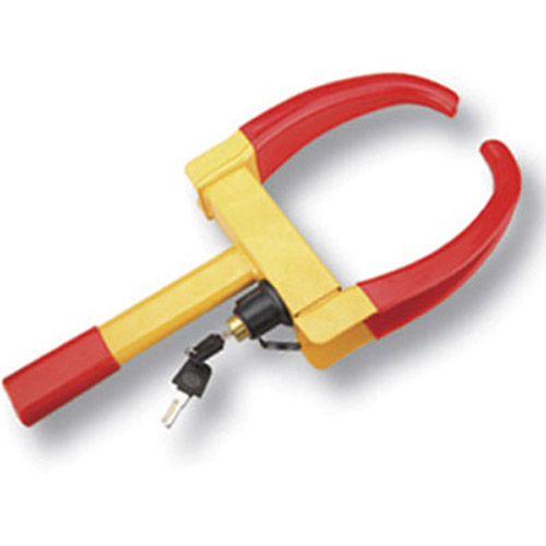 Heavy Duty Wheel Clamp Lock - Soft Coated Red Jaws
