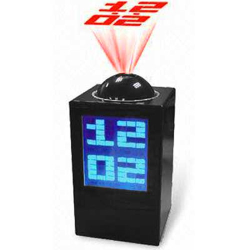 Modern Projection Clock - Black Clock/Blue LED