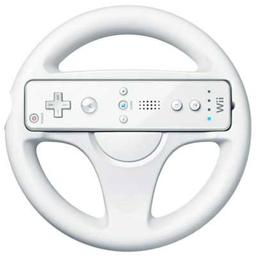 Round Steering Wheel for Nintendo Wii Mario Kart Game