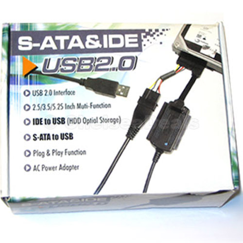 "USB 2.0 SATA and IDE Adapter for All 3.5"" & 2.5"" Devices"