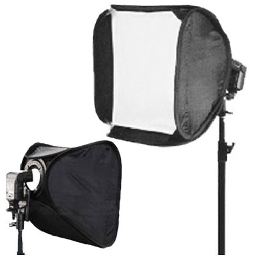 Hot Shoe Soft Box Kit for Speedlights 60cm - Twin Diffuser