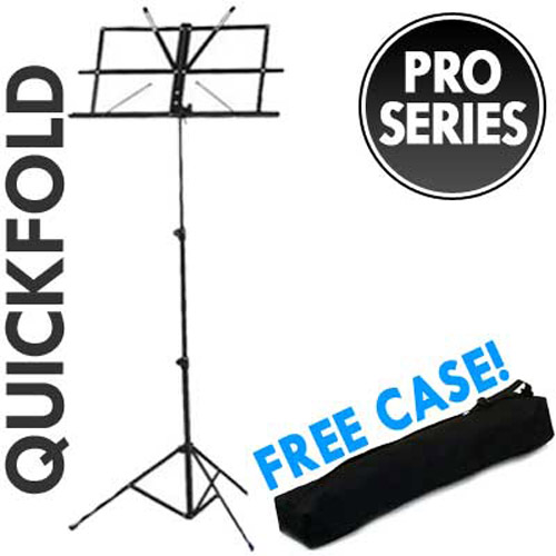 Foldable Music Sheet Stand and Case - Black