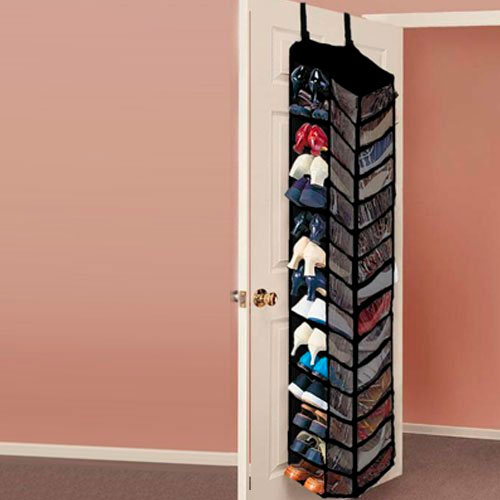 30 Pocket Hanging Over The Door Shoe Organiser Storage Rack