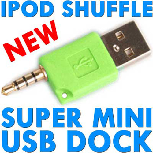 Super Mini USB Dock & Charger for iPod Shuffle - Green