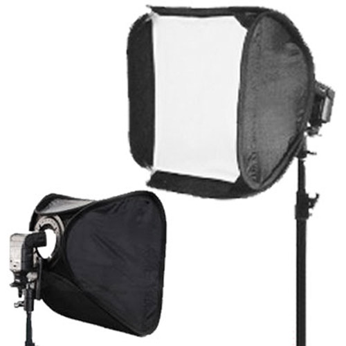 "Hot Shoe Soft Box Kit for Speedlights 24"" / 60cm - Folds Flat"